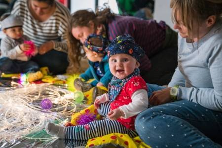 Newcastle upon Tyne baby and toddler group sensory storytelling