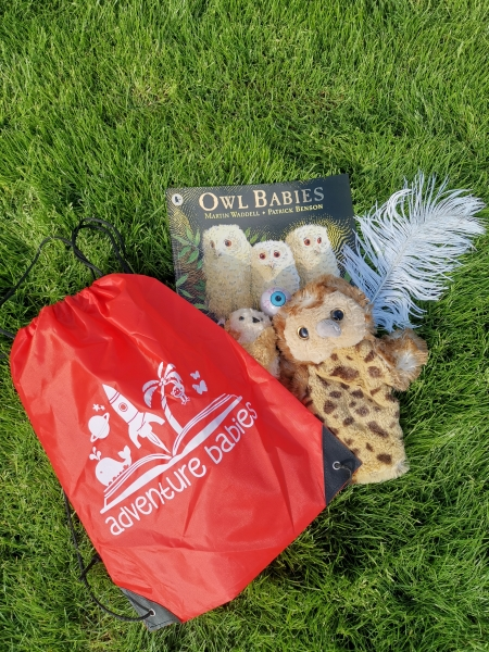Owl babies storytelling bag