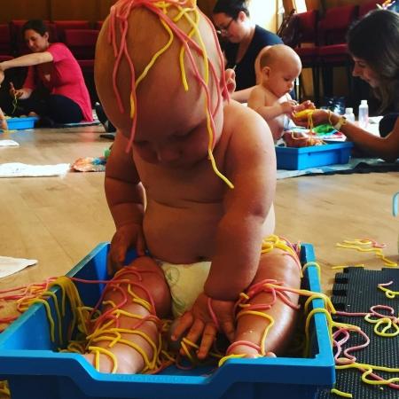 sensory class messy play
